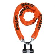 Oxford HD Chain & Lock 1.5m Orange LK145